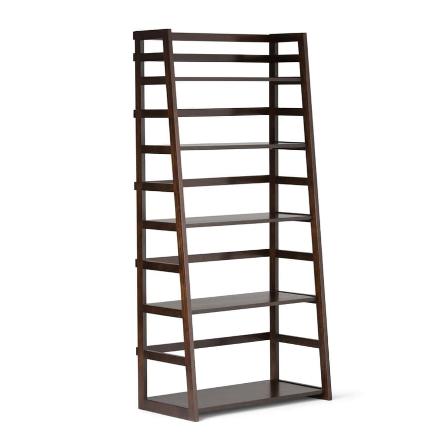 Simpli Home Acadian Tobacco Brown 5-Shelf Bookcase