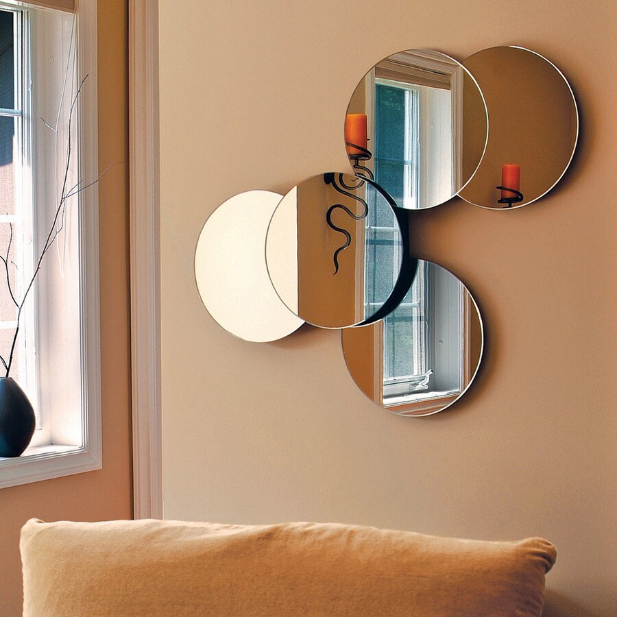 Nexxt Designs Solei Mirrored Polished Round Frameless Wall Mirror
