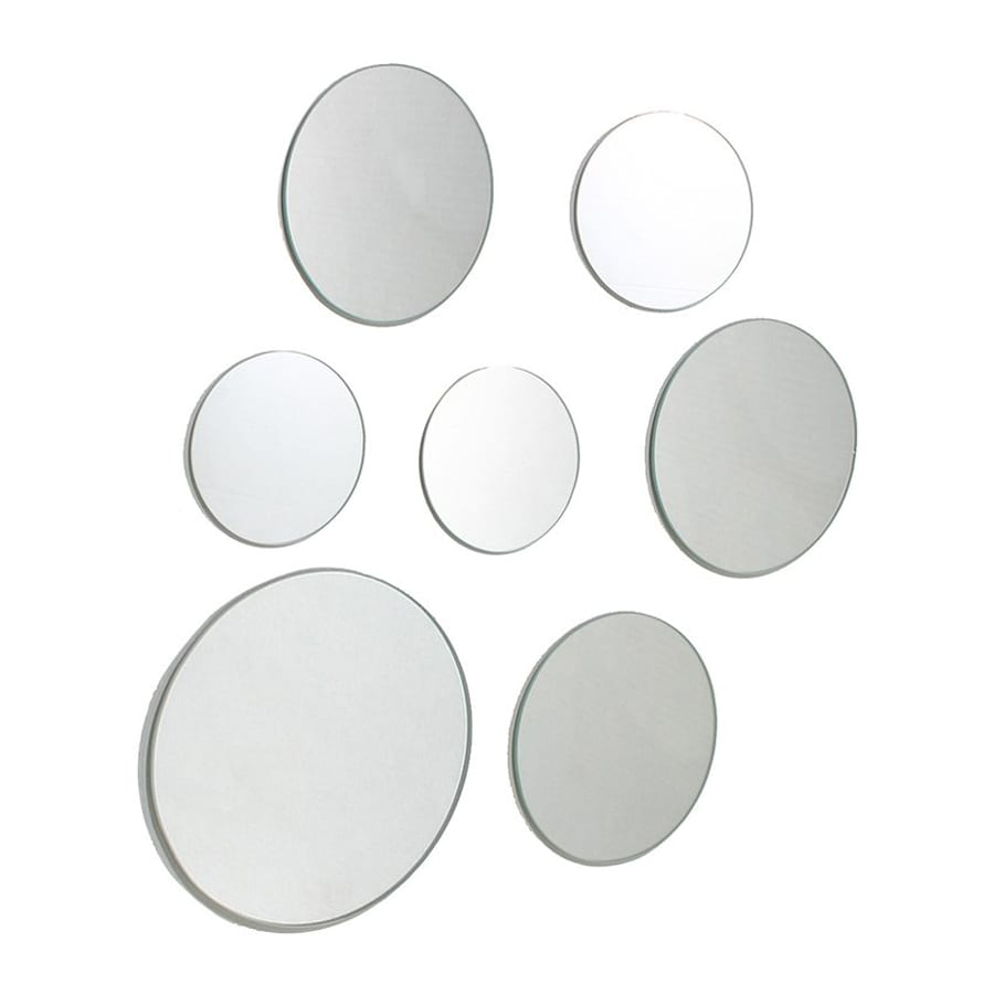 Nexxt Designs Zoe Mirrored Polished Round Frameless Wall Mirror