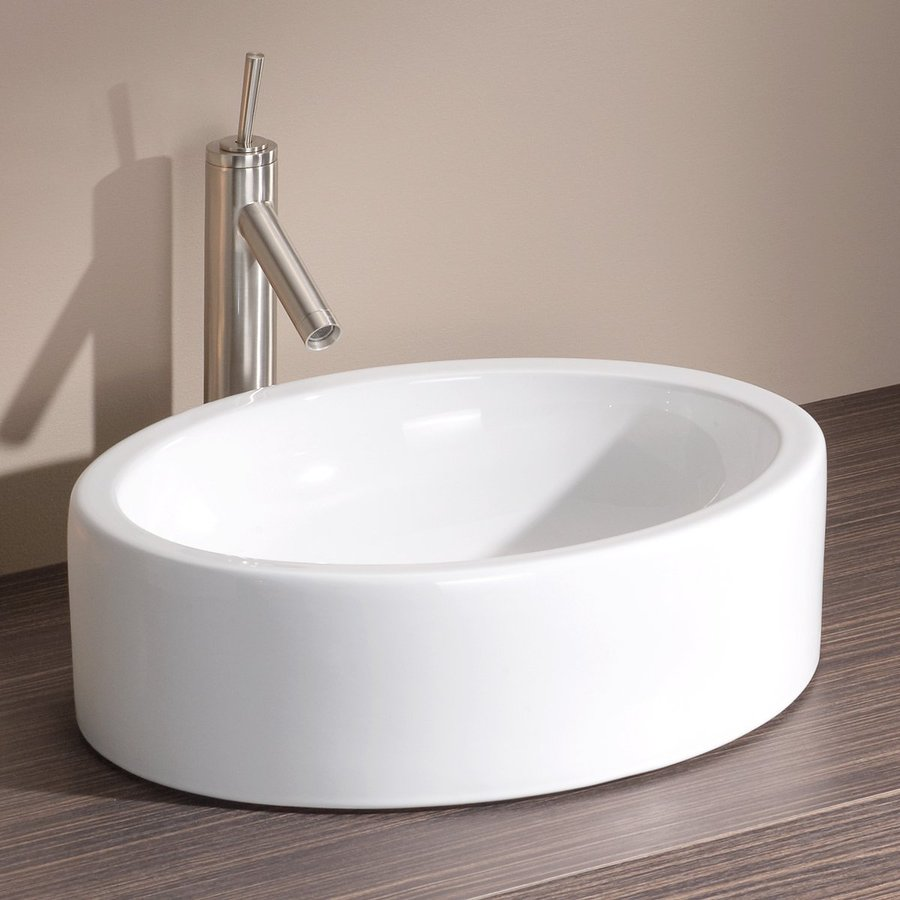 shop cheviot white vessel bathroom sink at lowes 21625