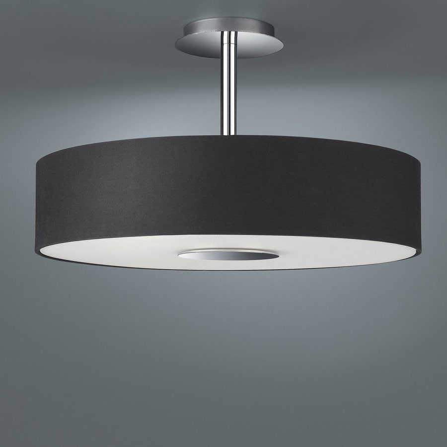 Philips Roomstylers 17.7-in W Matte Chrome Fabric Semi-Flush Mount Light