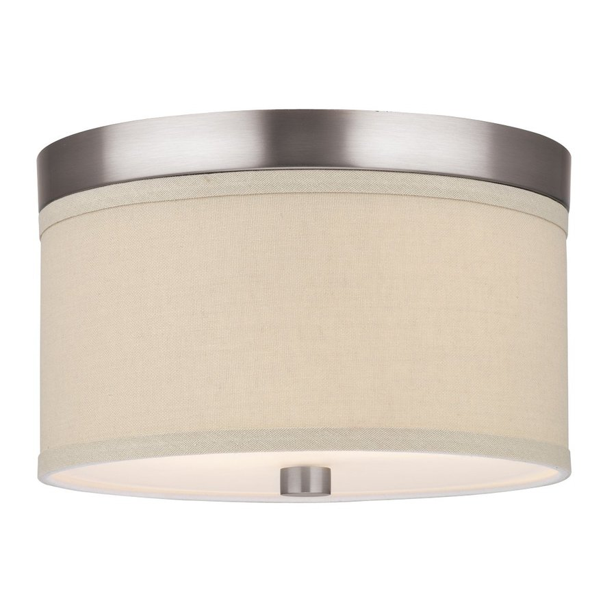 Philips Embarcadero 10.25-in W Satin Nickel Ceiling Flush Mount Light