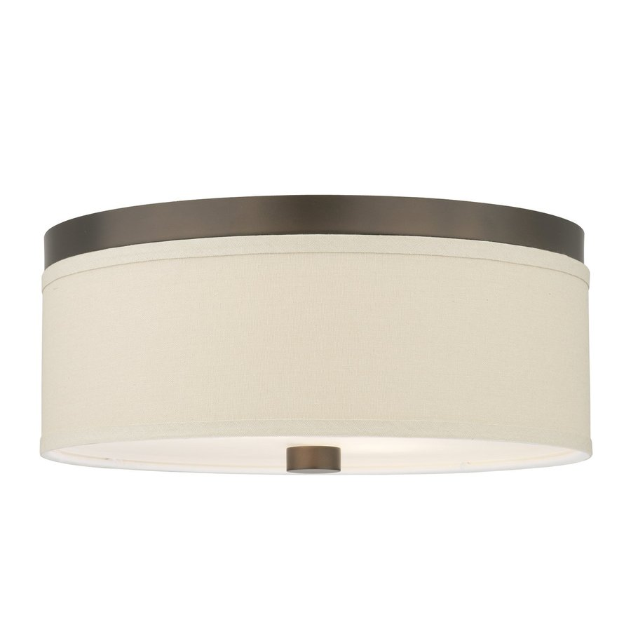 Philips Embarcadero 14.875-in W Sorrel Bronze Flush Mount Light