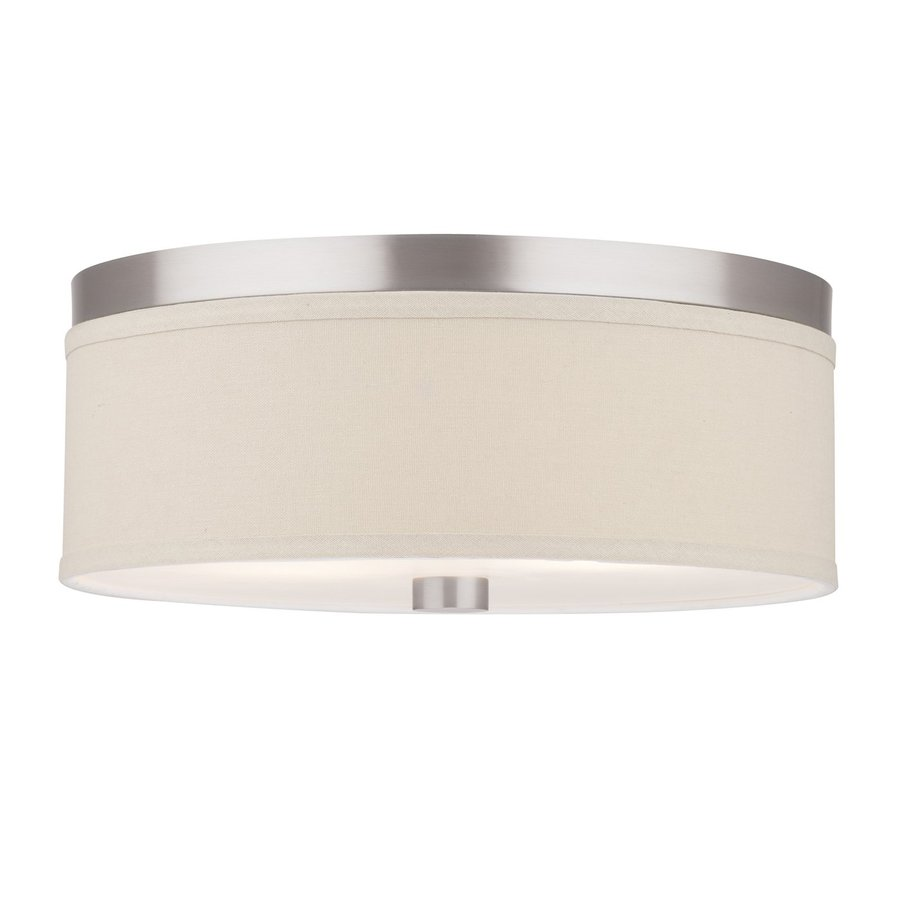 Philips Embarcadero 14.875-in W Satin nickel Flush Mount Light