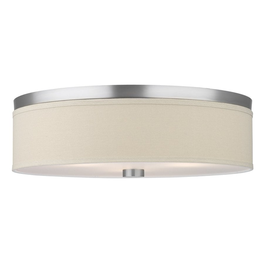 Philips Embarcadero 20.5-in W Satin Nickel Ceiling Flush Mount Light
