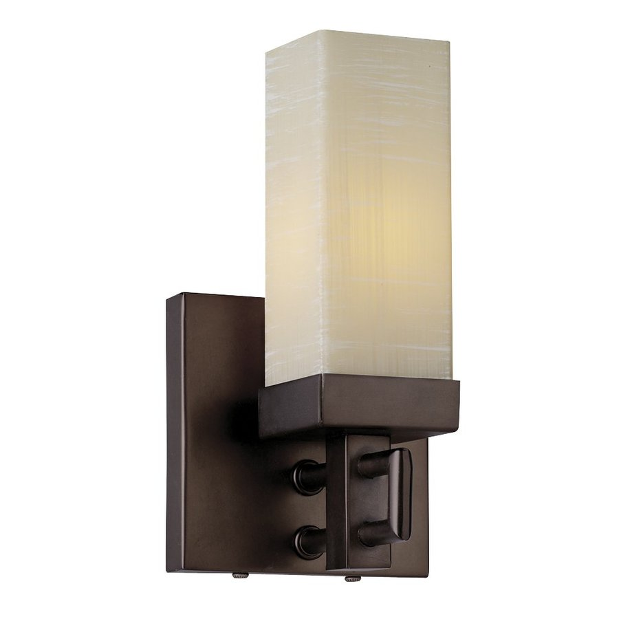 Philips Casa 4.25-in W 1-Light Merlot Bronze Pocket Hardwired Wall Sconce
