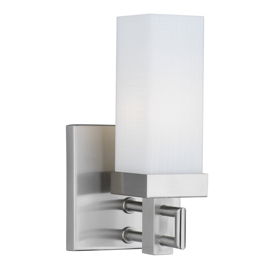 Philips Casa 4.25-in W 1-Light Satin Nickel Pocket Hardwired Wall Sconce