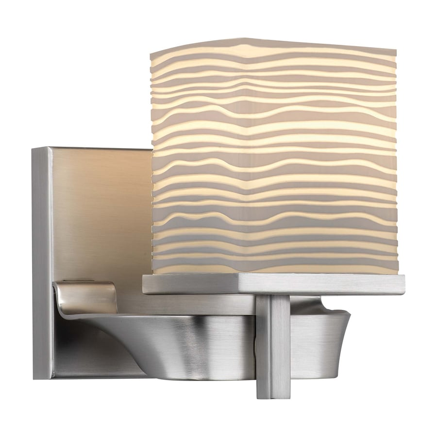 Philips Isobar 5.88-in W 1-Light Satin nickel Pocket Wall Sconce