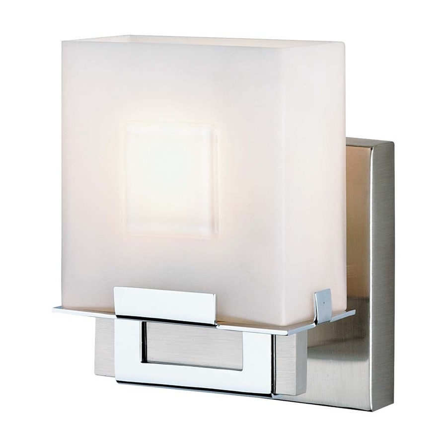 Philips 1-Light 6.25-in Satin Nickel Square Vanity Light