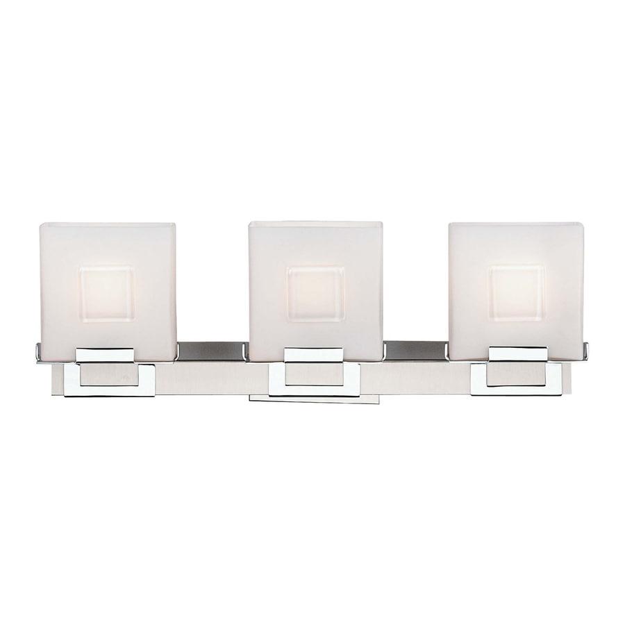 Philips 3-Light 6.25-in Satin Nickel Square Vanity Light