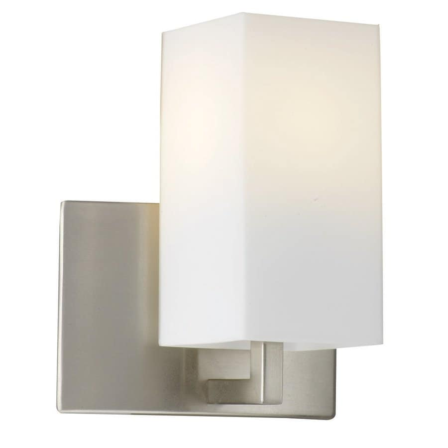 Philips Avenue 6.5-in W 1-Light Satin Nickel Pocket Hardwired Wall Sconce