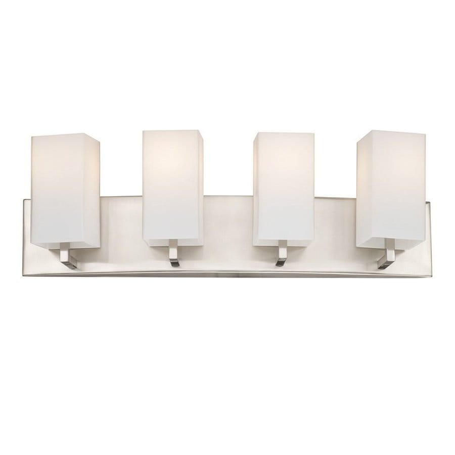 Philips Avenue 4-Light 7.75-in Satin Nickel Rectangle Vanity Light