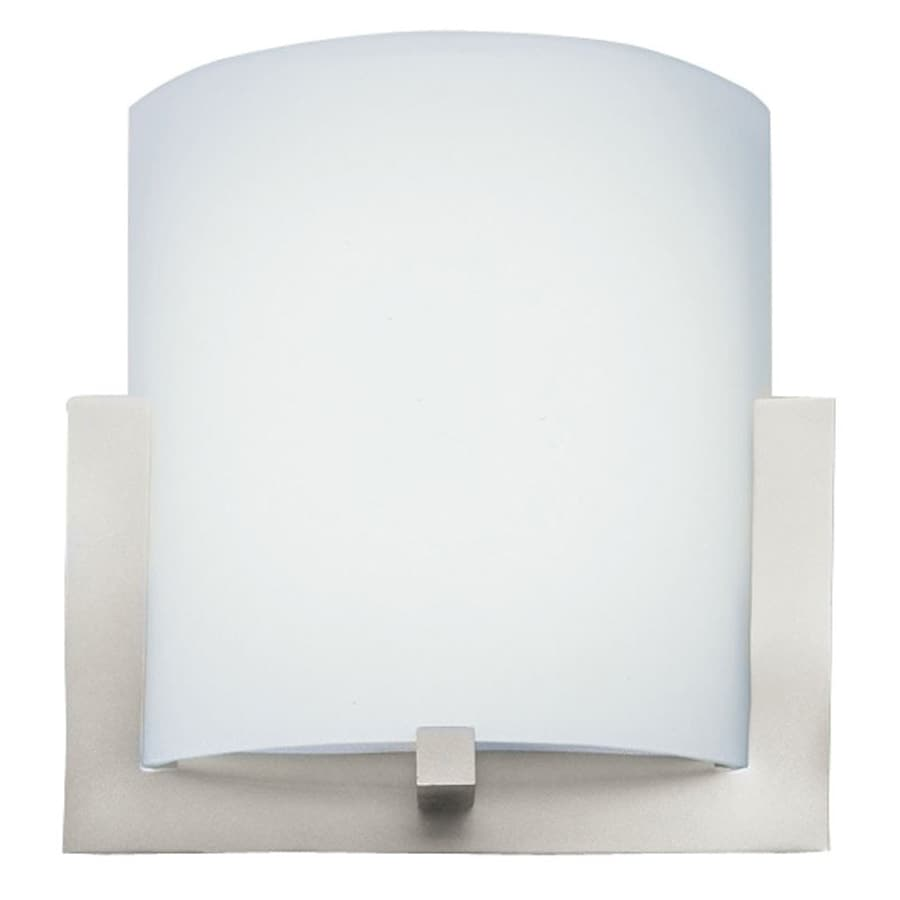 Philips 12-in W 1-Light Satin Nickel Pocket Wall Sconce