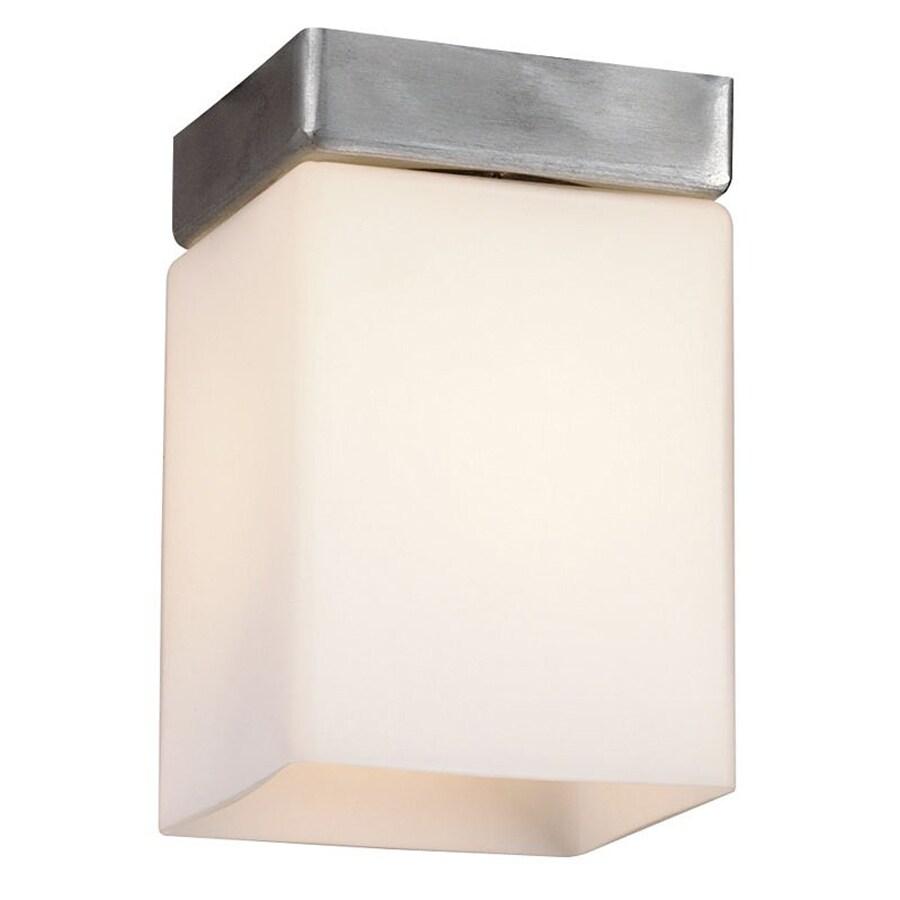 Philips Midnight 4.25-in W Satin Aluminum Flush Mount Light
