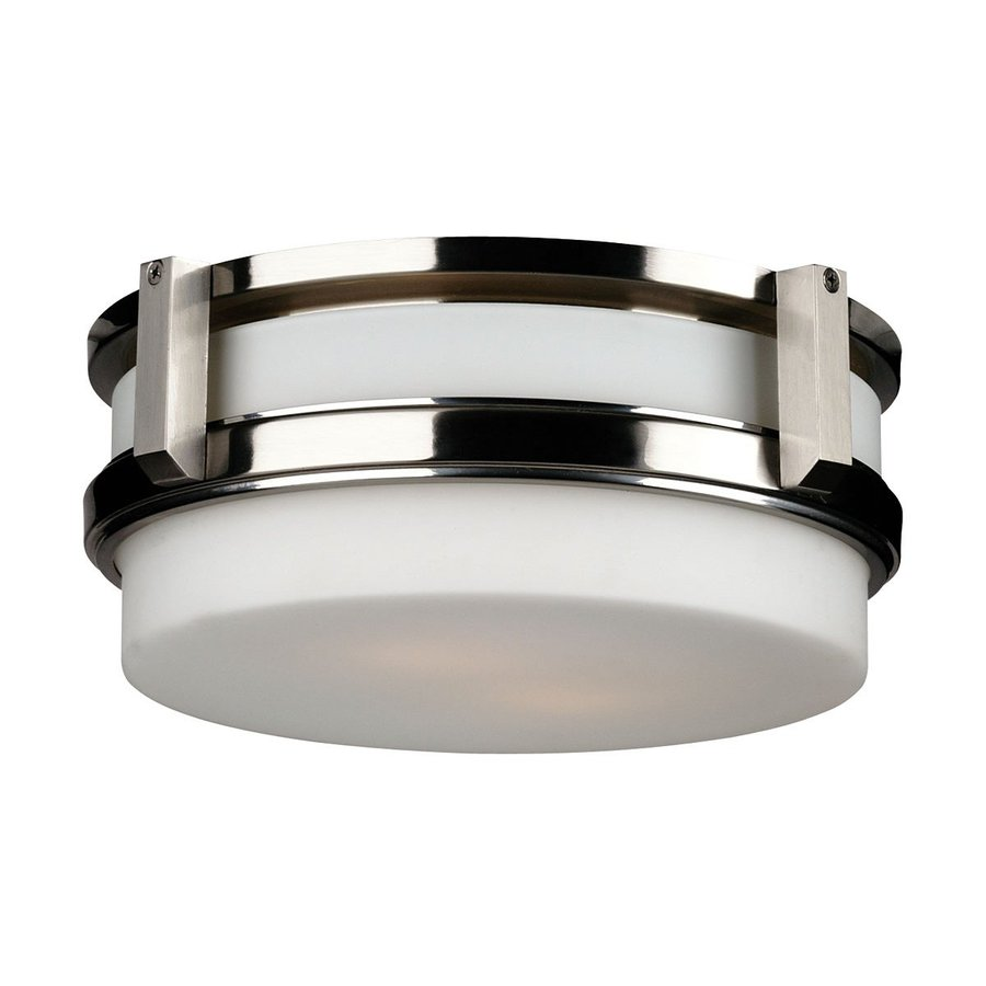 Philips 12-in W Satin Nickel Ceiling Flush Mount Light