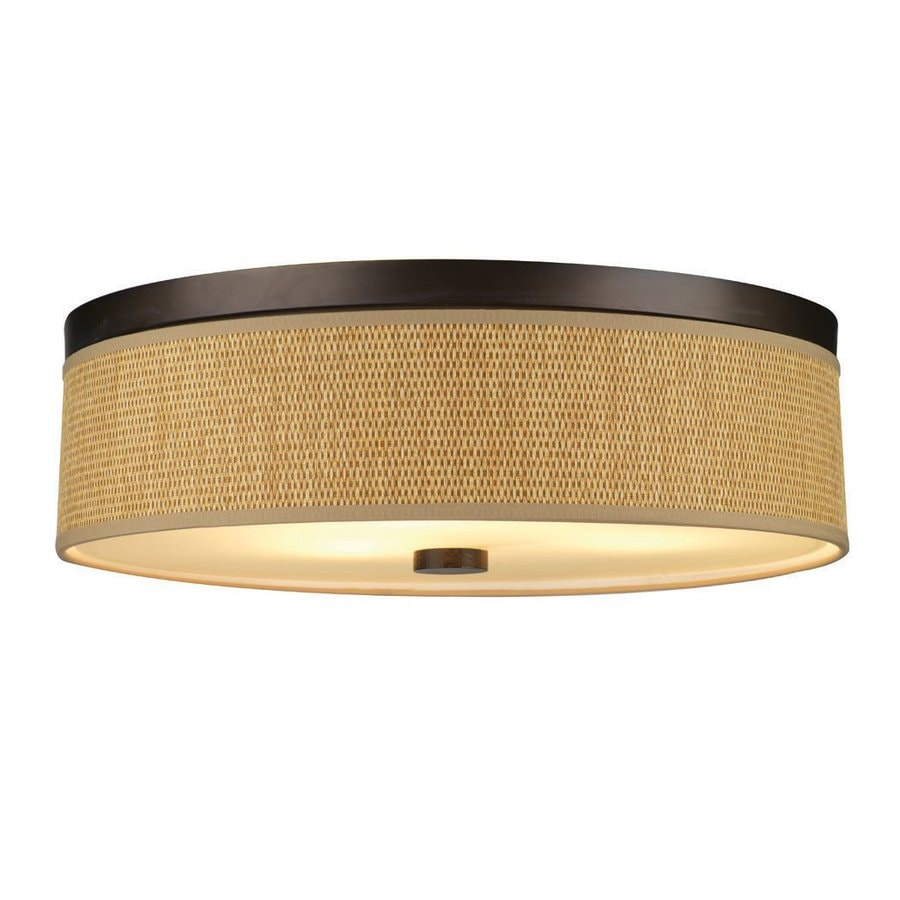 Philips Cassandra 20.5-in W Sorrel Bronze Flush Mount Light