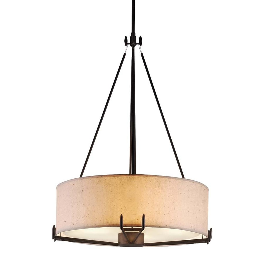 Philips Urban Oasis 21.5-in Bronze Luster Mediterranean Drum Pendant