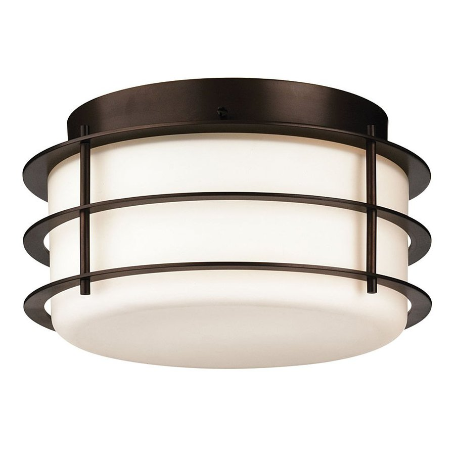 Philips Hollywood Hills 10-in W Deep Bronze Outdoor Flush-Mount Light