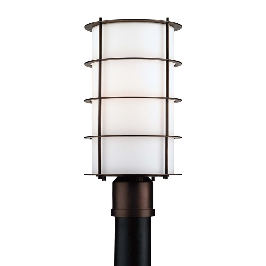 Philips Hollywood Hills 16-in H Deep Bronze Post Light