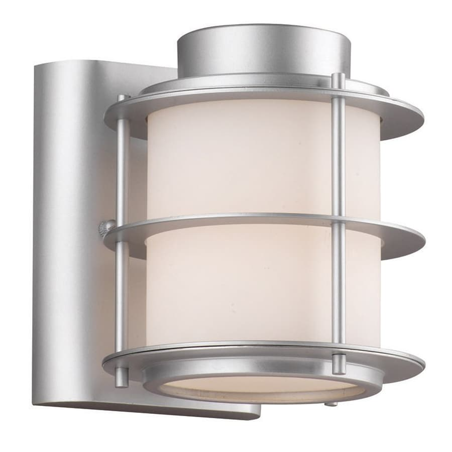 Shop Philips Hollywood Hills 6-in H Vista Silver Outdoor Wall Light at Lowes.com
