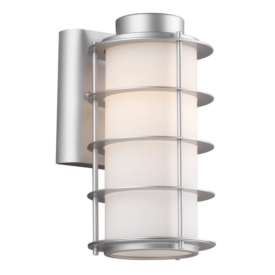 Philips Hollywood Hills 10.25-in H Vista Silver Outdoor Wall Light