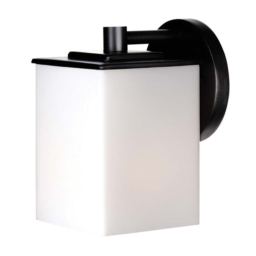 Philips Midnight 7-in H Black Outdoor Wall Light