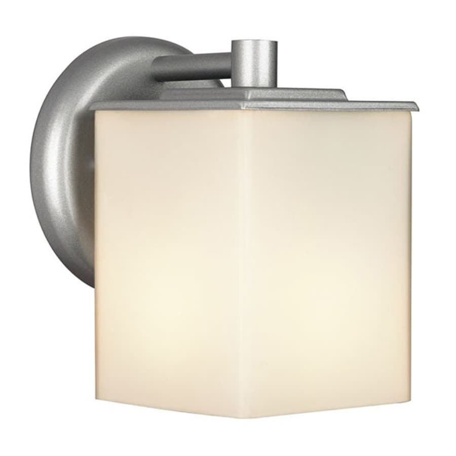 Shop Philips Midnight 7-in H Vista Silver Outdoor Wall Light at Lowes.com