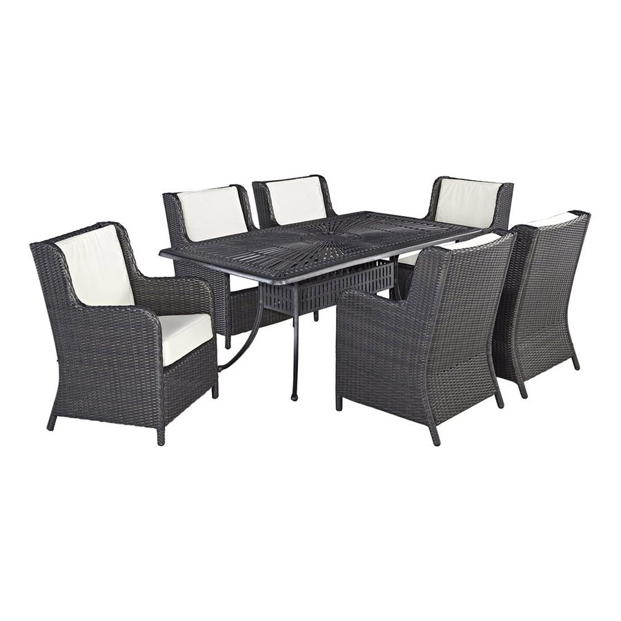 Home Styles Largo 7-Piece Charcoal Aluminum Patio Dining Set