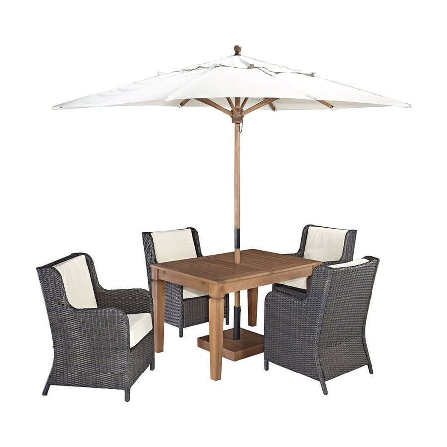 Home Styles Bali Hai 5-Piece Deep Brown Shorea Patio Dining Set
