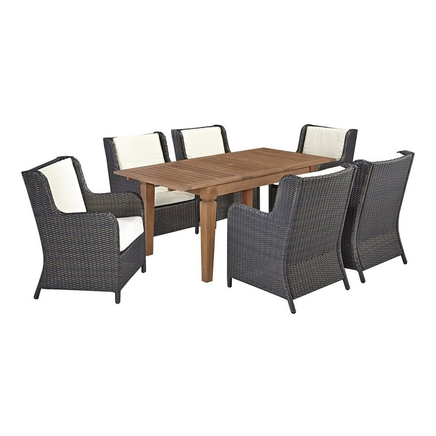 Home Styles Bali Hai 7-Piece Deep Brown Shorea Patio Dining Set
