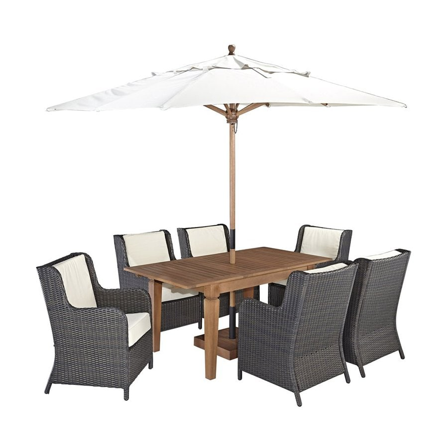 Home Styles Bali Hai 8-Piece Deep Brown Shorea Patio Dining Set