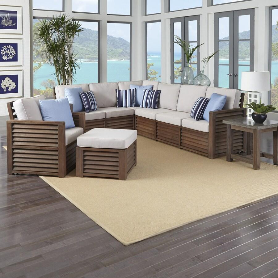 Home Styles Barnside 4-Piece Shorea Patio Conversation Set