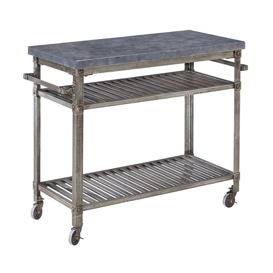 Superb Home Styles Urban Style Aged Metal Outdoor Serving Cart