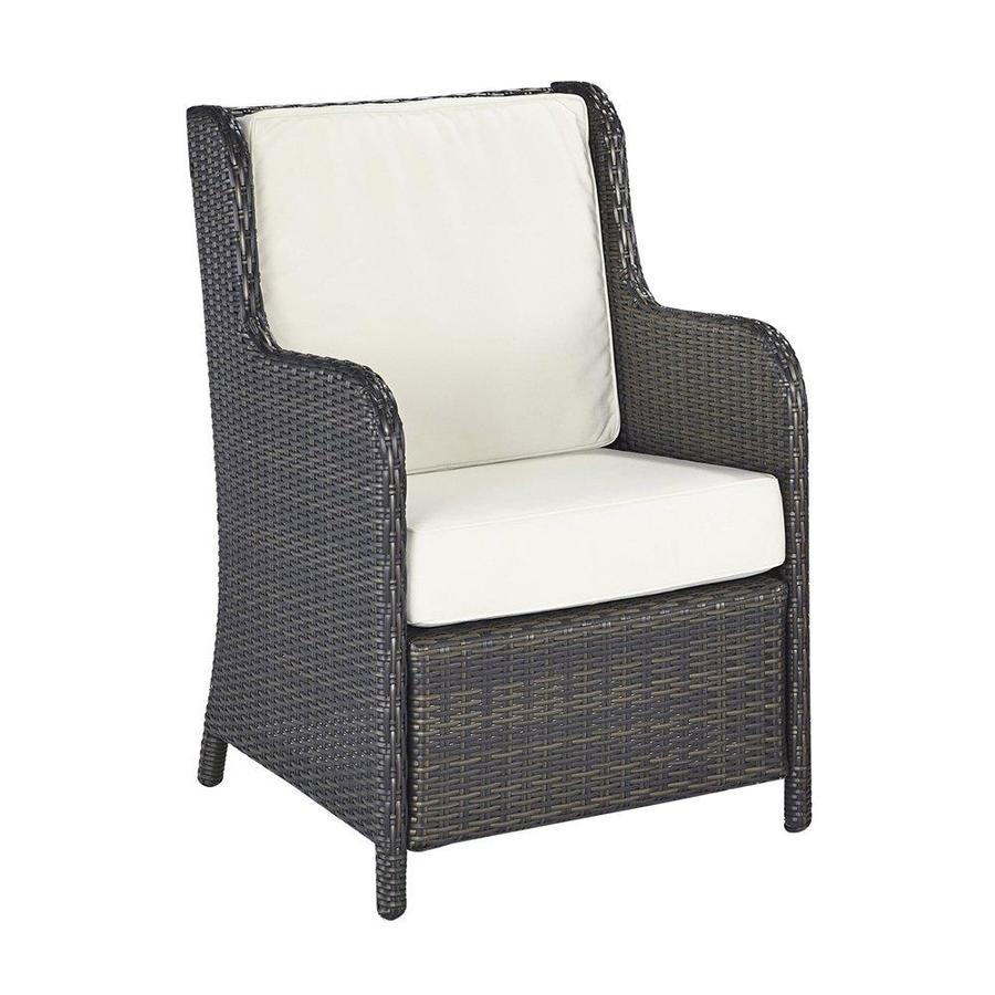 Home Styles Riviera Deep Brown Woven Vinyl Patio Conversation Chair