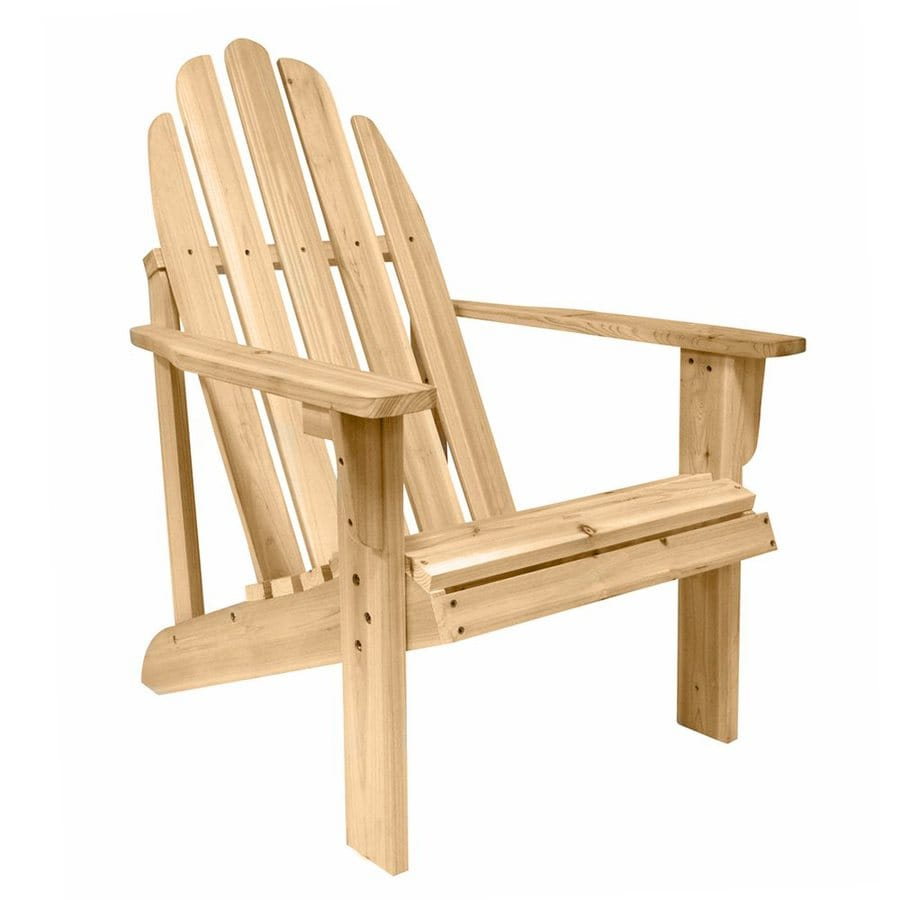 Shop Shine Company Catalina Natural Cedar Adirondack Chair At