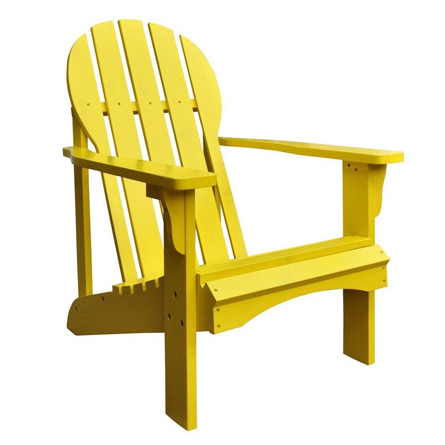 Shine Company Captiva Lemon Yellow Cedar Patio Adirondack Chair
