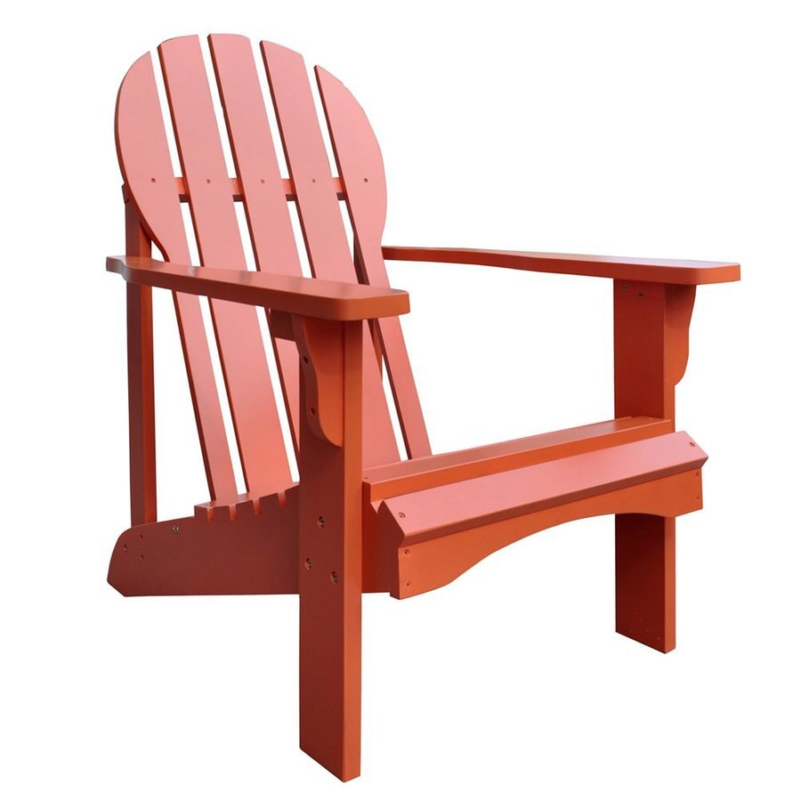 Shine Company Captiva Rust Cedar Patio Adirondack Chair