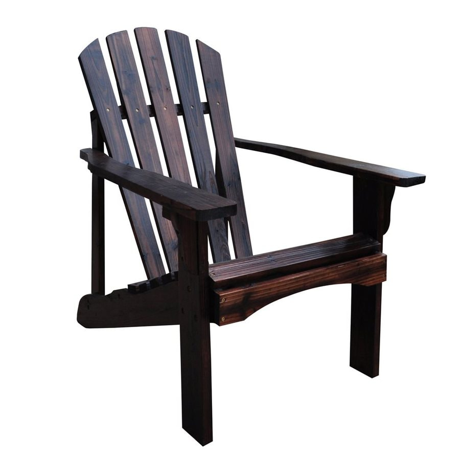 Shop Shine Company Rockport Burnt Brown Cedar Patio Adirondack Chair At Lowes