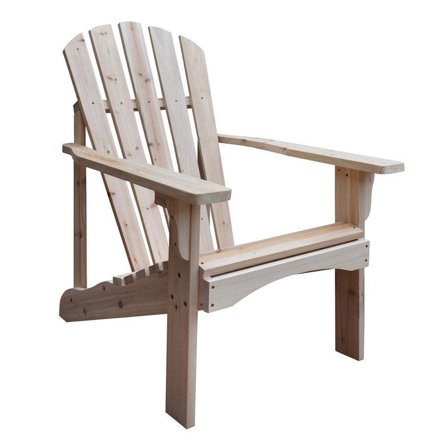 Shine Company Rockport Natural Cedar Patio Adirondack Chair