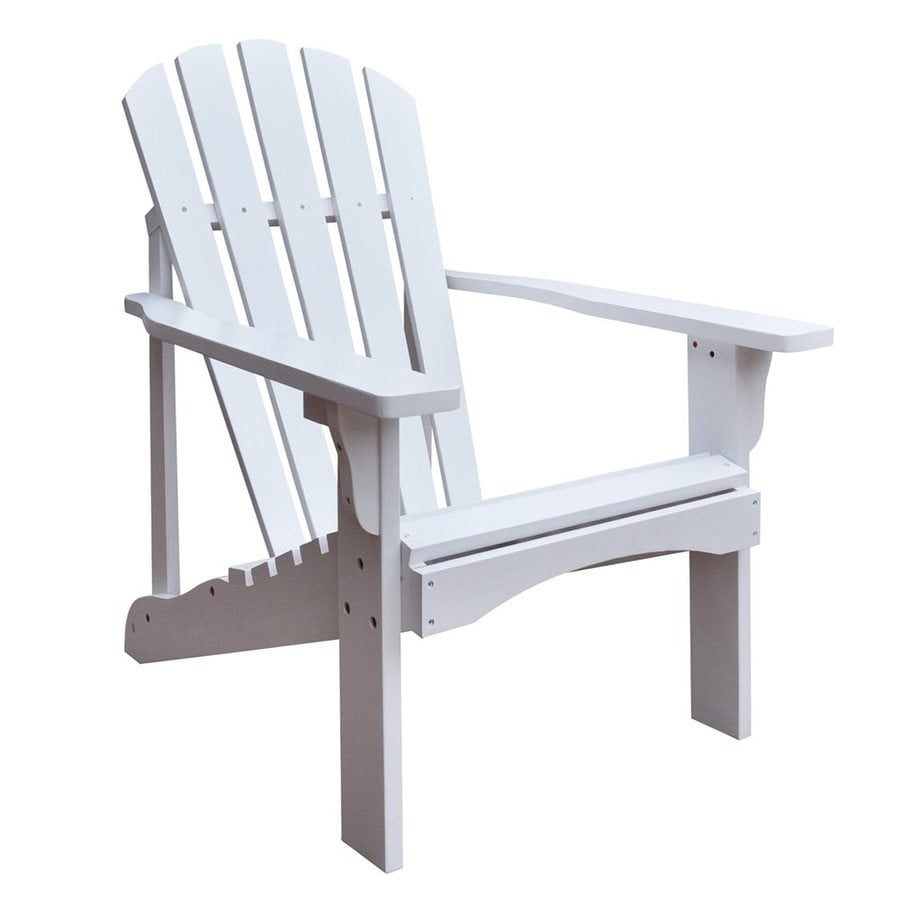 Shop Shine Company Rockport White Cedar Patio Adirondack Chair At