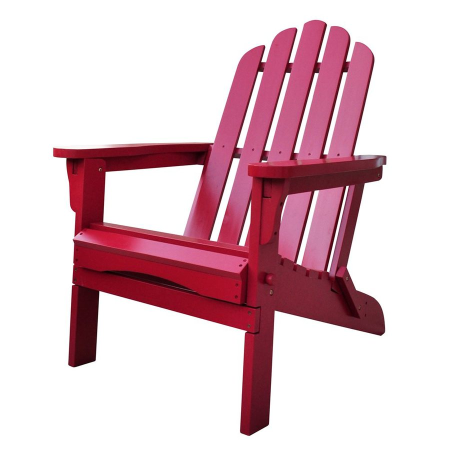 Shine Company Marina Chili Pepper Cedar Folding Patio Adirondack Chair