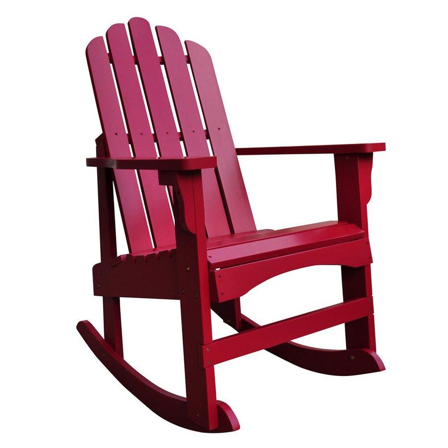 Shine Company Marina Chili Pepper Cedar Rocking Chair