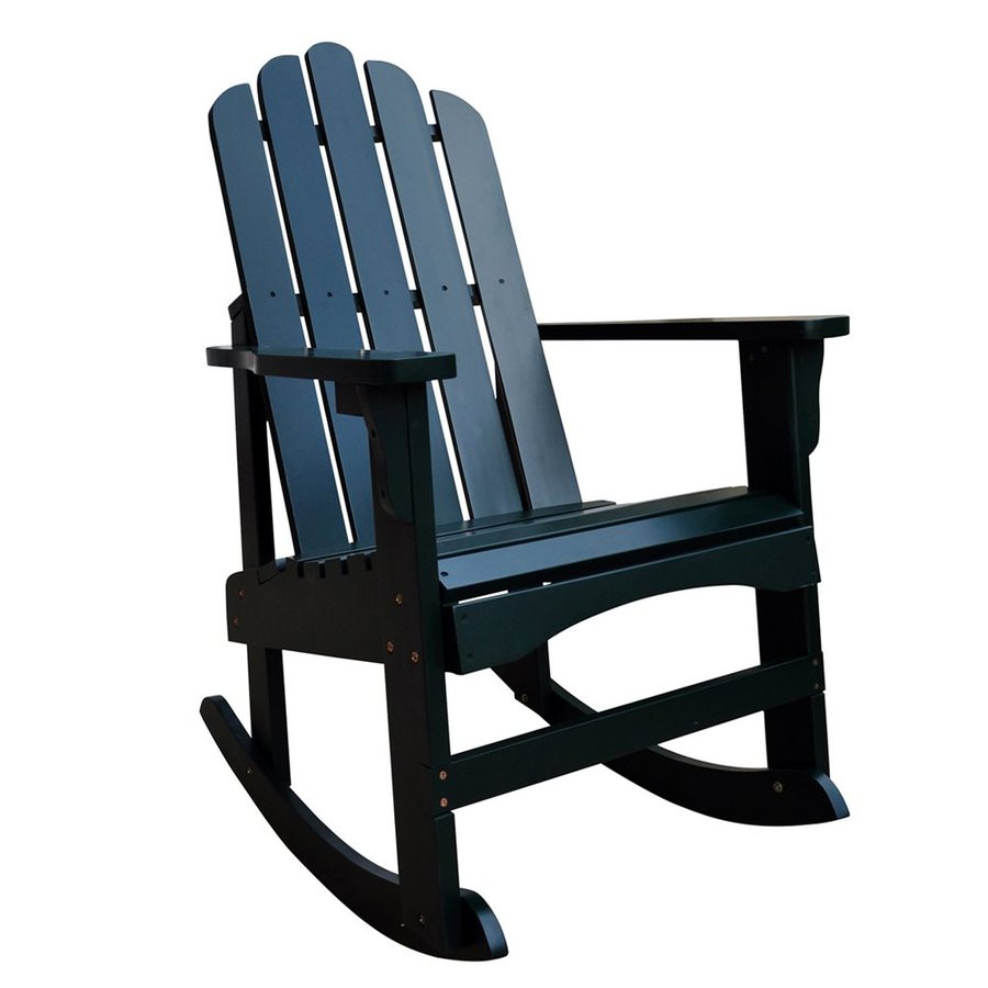 Shine Company Marina Dark Green Cedar Patio Rocking Chair