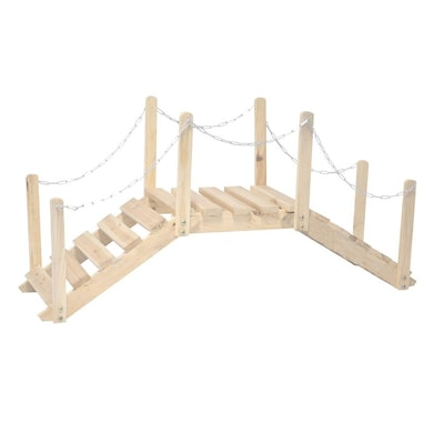 Shine Company 3 333 Ft Natural Cedar Garden Bridge At Lowes