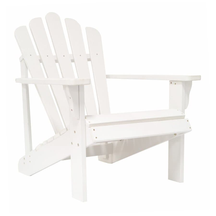 Shine Company Westport White Composite Patio Adirondack Chair