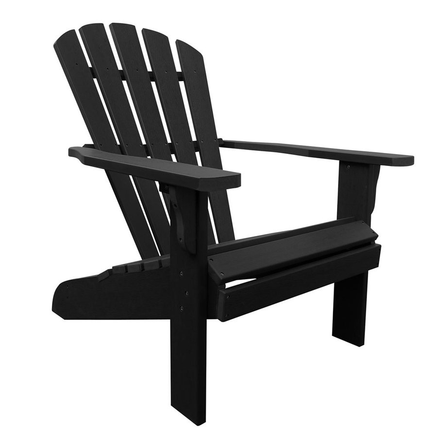 Shine Company Westport Black Composite Patio Adirondack Chair