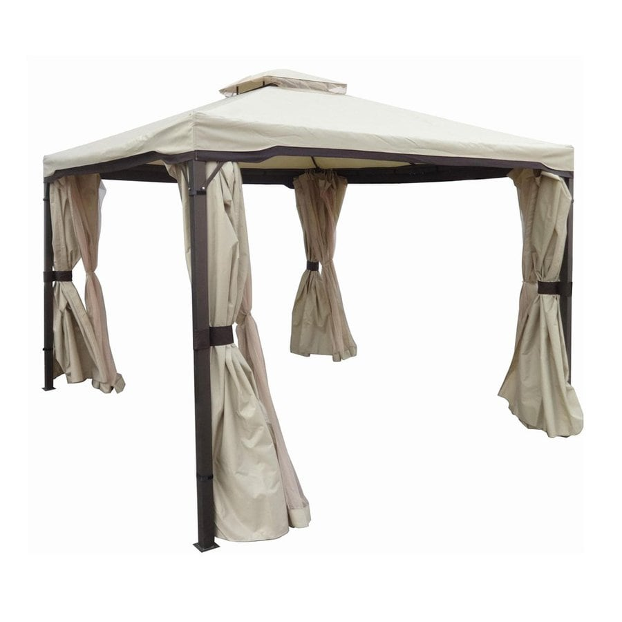 Display product reviews for Skyline Beige Metal Rectangle Screen Included Permanent Gazebo (Exterior 9.83  sc 1 st  Loweu0027s & Shop Gazebos at Lowes.com