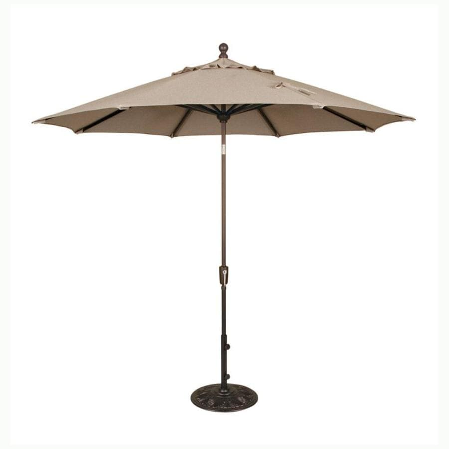 Shop blue wave catalina champagne market patio umbrella for Balcony umbrella