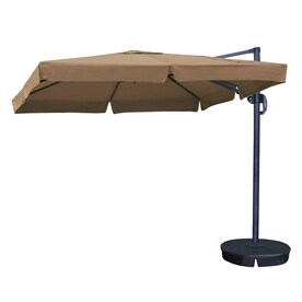 Blue Wave Santorini II Offset Patio Umbrella With Base (Common: 10 Ft W