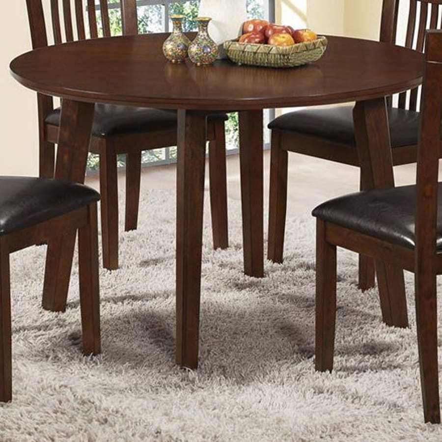 Monarch Specialties Antique Oak Round Dining Table